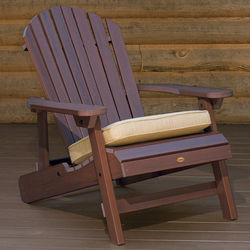 King Weathered Acorn Folding and Reclining Adirondac Chair