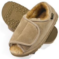 Men's Adjustable Sheepskin Slippers