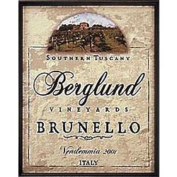 Personalized Framed Wine Label Canvas