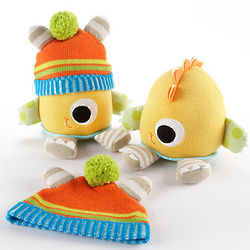 Clyde the Closet Monster Knit Baby Hat and Plush Toy