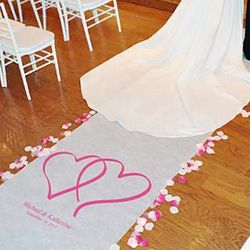 Two Hearts Personalized Aisle Runner