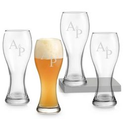 Monogram Wheat Beer Glass Set