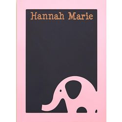 Kid's Personalized Elephant Chalkboard