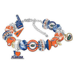 Women's Florida Gators Football Charm Bracelet
