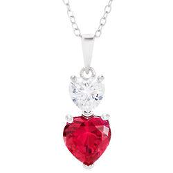 Custom Double Birthstone Heart Pendant