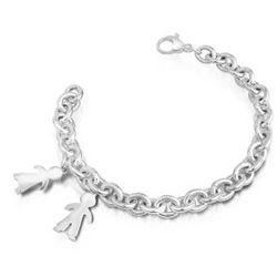 Sterling Silver Children Charms Chain Bracelet