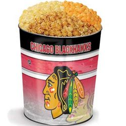 Chicago Blackhawks 3-Way Popcorn Tin