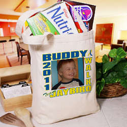 Personalized Buddy Walk Down Syndrome Photo Tote Bag