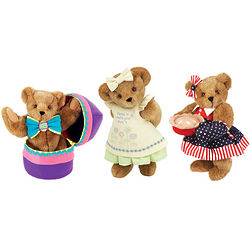 Teddy Bear with Three Holiday Outfits