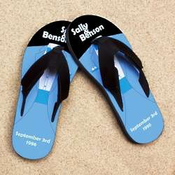 Personalized Blue Tuxedo Pro Fit Sandals