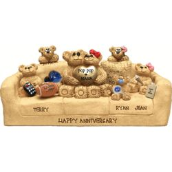 Anniversary Chair for Bear Couple with up to 9 Kids