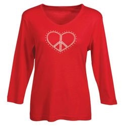 Peace Heart Long Sleeve Tee