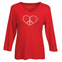 Peace Heart Long Sleeve Tee