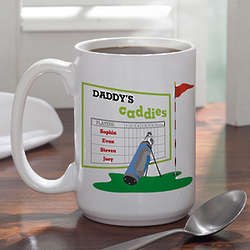 Personalized Favorite Caddies Golf Coffee Mug