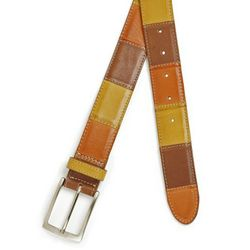 Italian Patchwork Leather Belt