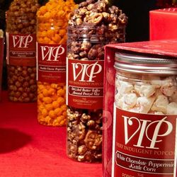 VIP Toffee Caramel and Sea Salt Popcorn Canisters