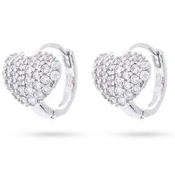Sterling Silver Petite Heart Huggie Earrings
