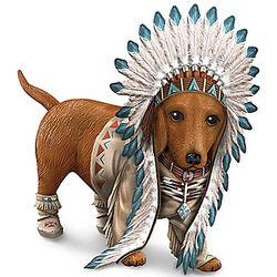Chief Barks a Lot Dachshund Figurine