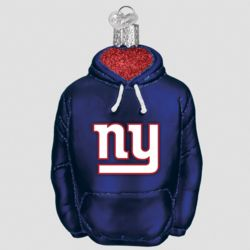 New York Giants Hand Blown Glass Hoodie Ornament