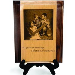 Personalized Photo Solid Pyrograph