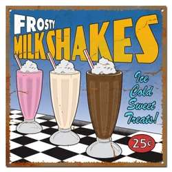 Vintage Milkshake Sign