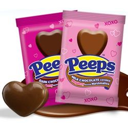 Chocolate Covered Heart Marshmallow Peeps
