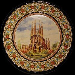 Handmade Barcelona Ceramic Wall Decorative Plate