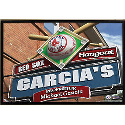 Boston Red Sox Pub Sign Personalized Canvas Art Print