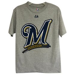 Milwaukee Brewers Youth Big Logo T-Shirt
