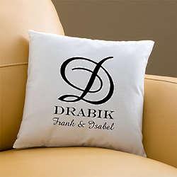 Personalized Family Monogram Throw Pillows