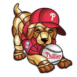 Philadelphia Phillies Light-Up Puppy Sculpture