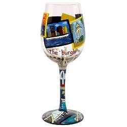 Pittsburgh Wine Glass