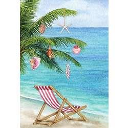 Tropical Beach Christmas Cards