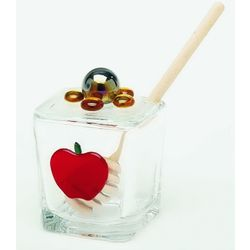 Red Apple Honey Jar
