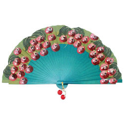 Cherry Design Spanish Folding Hand Fan