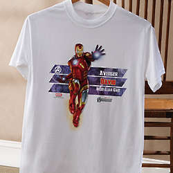 Personalized Avengers Adult T-Shirt