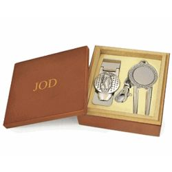 Golfer's Money Clip and Divot Tool Key Chain Gift Set