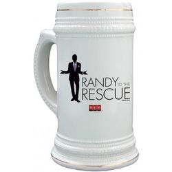 Randy to the Rescue Logo Stein