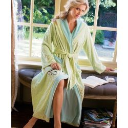 Terry and Chenille Patterned Robe