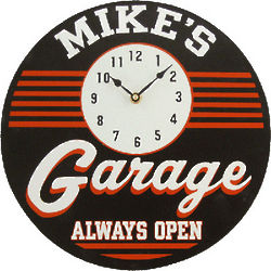 Personalized Always Open Garage Clock