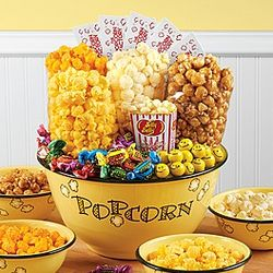 Popcorn Bowl of Sweets and Snacks