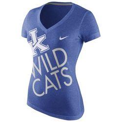 Kentucky Wildcats Women's Slim Fit V-Neck T-Shirt