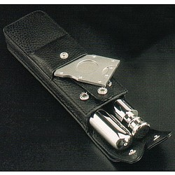 Cigar Cutter/Holder & Flask Set