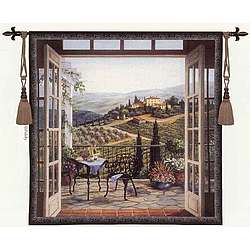 Balcony View of the Villa Tapestry
