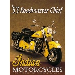 Indian Roadmaster Chief 1953 Sign