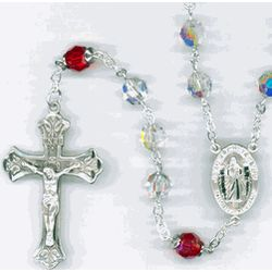 Divine Mercy Chaplet Crystal Rosary