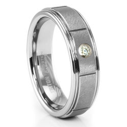 Mandor Tungsten Diamond Ring