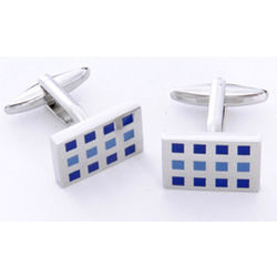 12 Square Cufflink with Personalized Case