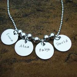 Charmed I'm Sure Hand Stamped Personalized Necklace