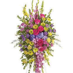 Bright and Beautiful Funeral Flowers Spray